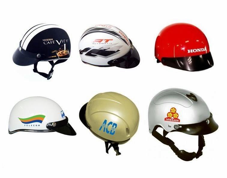 Cung cấp nón bảo hiểm in logo quảng cáo miền nam